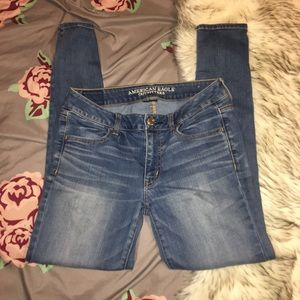 American Eagle Super Skinny Jeans Light Wash Denim